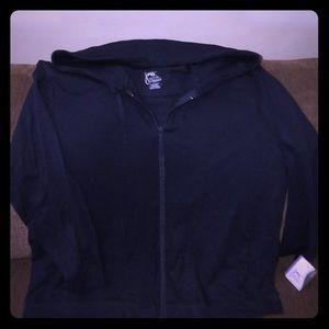NEW Women's Just My Size hooded jacket Sz 2X Navy